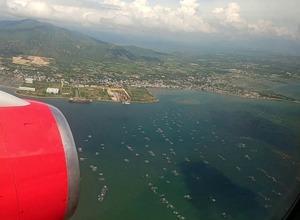 вид с самолета на Вьетнам
